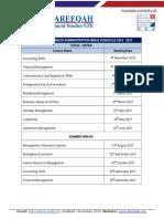 Doha - MBA Schedule - 2016 - 2017