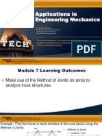 Module 7 Applications in Engineering Mechanics
