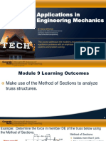 Module 9 Applications in Engineering Mechanics