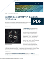 Spacetime Geometry in Quantum Mechanics