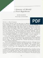 The Genesis of Michif