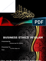 business ethics under the prism of islam