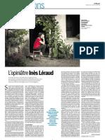 Ines Léraud by Martine Delahaye dans Le Monde