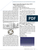 Finite Element Analysis Carbon Fiber Sprocket using ANSYS