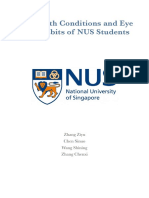 Eye Health Conditions and Eye Care Habits of National University of Singapore Students