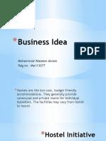 Hostel business Idea for presentation