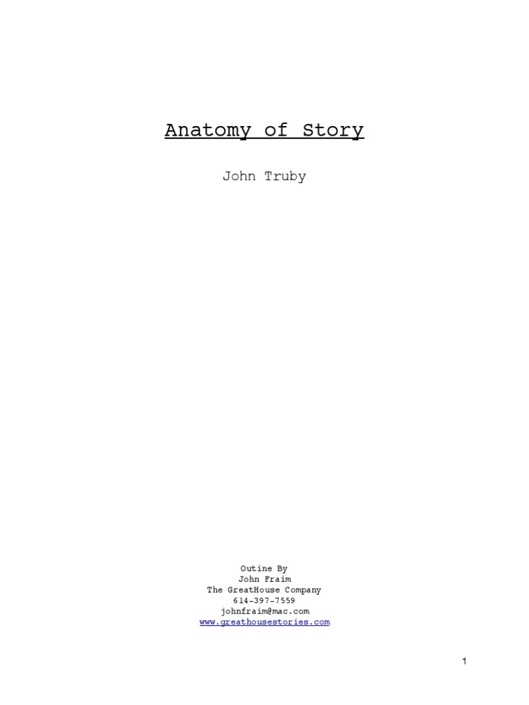 Anatomy Of Storypdf Hero Plot Narrative