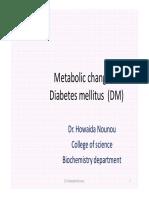 Metabolic Changes in Diabetes Mellitus (1)