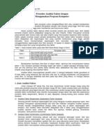 Prosedur Analisis Faktor Dengan Menggunakan Komputer