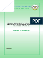Central Government Annual General Report for 2015-2016
