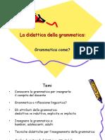Didattica Della Grammatica