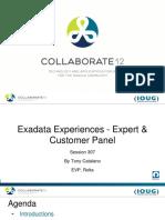 Exadata experiences