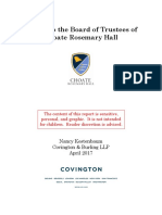 Report to the Board of Trustees of Choate