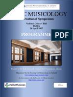 Provisional Programme. Public Musicology