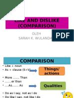 3. Sarah-like and Dislike