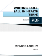 5. SARAH-Writing Skill