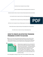 How to Create an Effective Training Program 8 Steps to Success