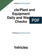 P McGowan Daily and Weekly Checks V1