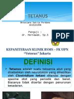 Oktaviano Satria Perdana-Tetanus