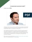 Is your current leadership benchmark right?  Radu Manolescu