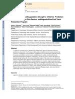 Bierman Et Al., 2013. School Outcomes of Aggressive-Disruptive Children. Prediction From Kindergarten Risk Factors and Impact of the Fast Track Prevention Program