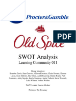 final swot analysis - old spice p g