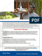 Job Adv - Reservations Manager