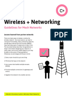 Guidelines for Mesh Networks
