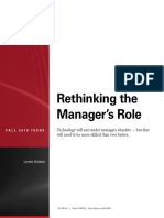 Rethinking the Manager's Role