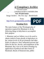 Illuminai Conspiracy Archive -Caveat Lector