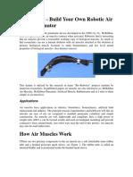 Air Muscle Information Sheet Am 02l