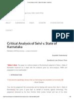 Critical Analysis of Selvi v. State of Karnataka - Academike.pdf