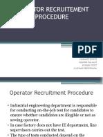 Operator Recruitement Procedure