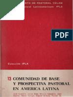 Comunidad de base y prospectiva - CELAM.pdf