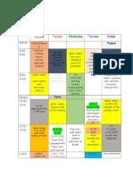 schedule week 7