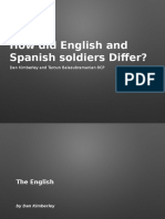 How Did Spanish and English Soldiers Differ
