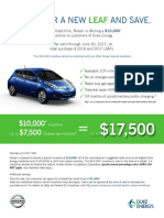 Nissan Leaf Customer Flyer
