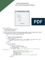 Ejemplo de Funciones, Procedimientos y Modulos