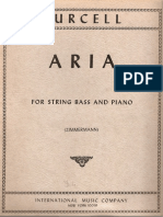 Purcell Aria for String Bass and Piano
