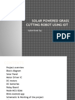 Solar Powered Grass Cutting Robot Using Iot