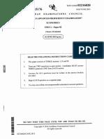 CAPE Economics 2015 U2 Paper 2