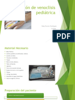 Instalación de Venoclisis Pediátrica