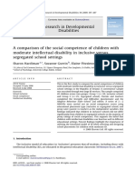 A Comparison of the Social Competence of Children With
