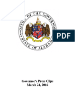Governor's Press Clips for Thursday March 24 2016