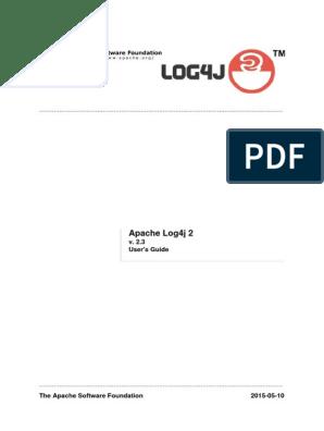 Apache Log4j 2: v  2 3 User's Guide