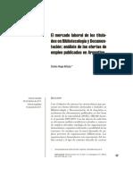 el mercado laboral de los titulados en bibliotecología y documentación