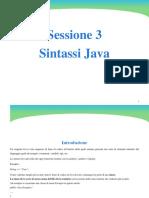 3 Sintassi Java