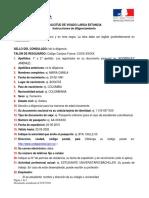 Instrucciones Para Completar El Formulario de Solicitud de Visa