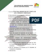 Requisitos Para Rendicion de Cuenta de Los Consejos Comunales