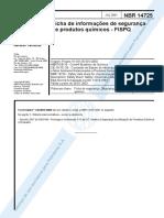 NBR 14.725 Ficha de Informações de Segurança de Produtos Químicos FISPQ